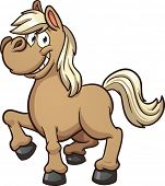 stock photo of pony  - Cute cartoon pony - JPG