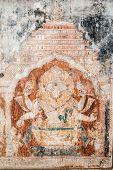 stock photo of hindu-god  - An old painting of the Hindu god Narasimha - JPG