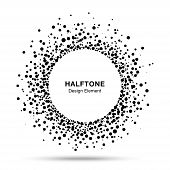 pic of dripping  - Black Abstract Halftone Logo Design Element - JPG