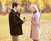image of propose  - Love couple relationship and engagement concept  - JPG