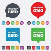 picture of modifier  - No GMO sign icon - JPG