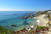 picture of southern  - A view of Laguna Beach from a luxurious balcony on a summer afternoon - JPG