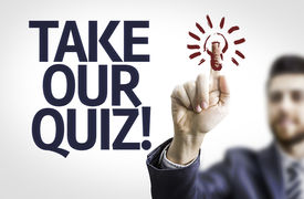 pic of quiz  - Business man pointing to transparent board with text - JPG