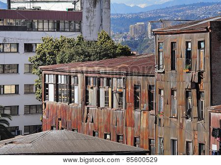 Old Buildings In Valparaiso.