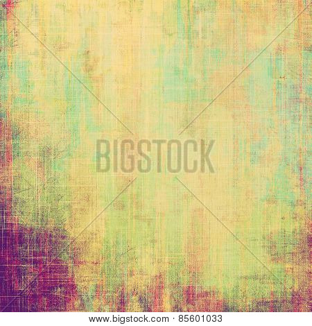 Old antique texture - perfect background with space for your text or image. With different color patterns: yellow (beige); purple (violet); cyan