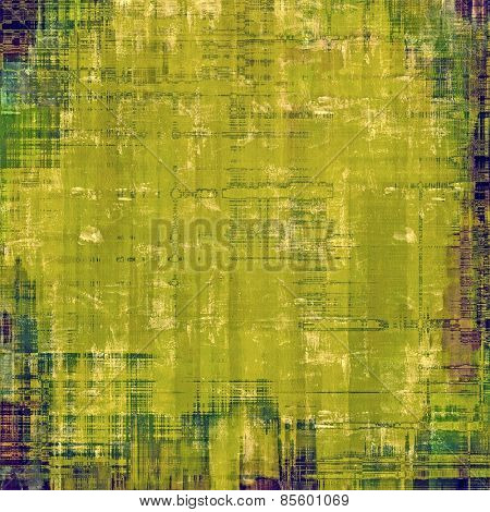 Antique vintage textured background. With different color patterns: brown; green; blue