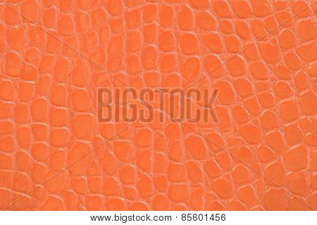 Orange Embossed Leather Texture Background
