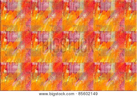 Red, Orange, Yellow Pattern