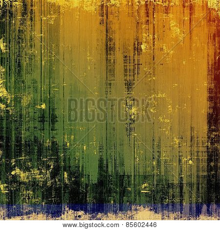 Grunge aging texture, art background. With different color patterns: yellow (beige); brown; green