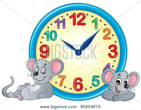 Clock theme image 4 - eps10 vector illustration.