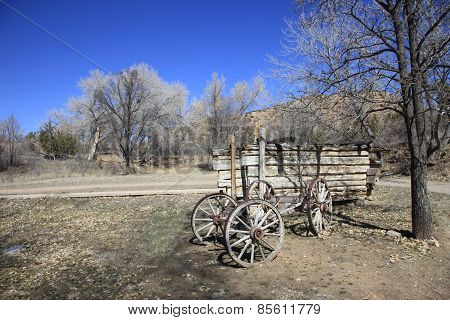Old chuck wagon cart