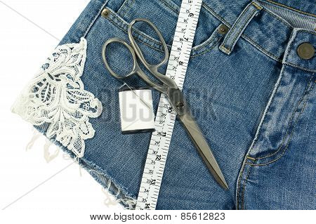 Shorts Jeans Diy With Lace