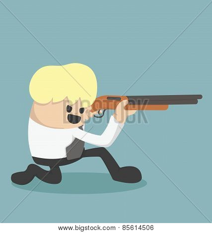 Business Is Holding A Gun To Be Fired