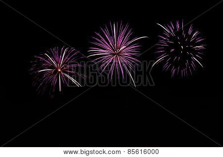Beautiful New Year Celebration Fireworks