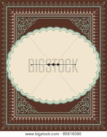 Vintage Letterpress-style frame