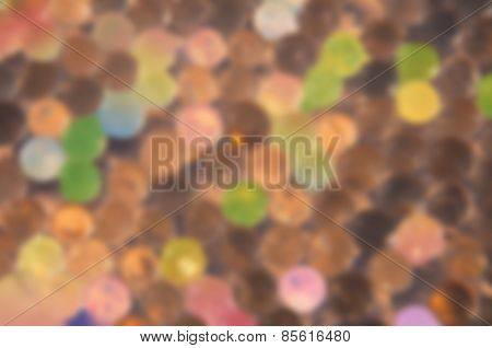 Abstract blurred background with colored glass balls