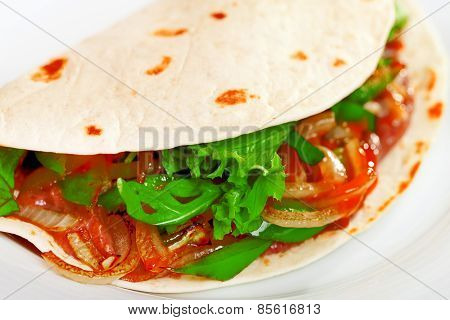 Vegetarian Tortilla Wrap