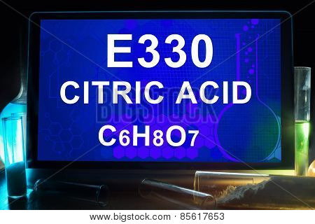 Tablet with chemical formula of  citric acid ?330.