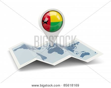 Round Pin With Flag Of Guinea Bissau