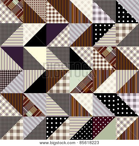 Triangles patchwork pattern.