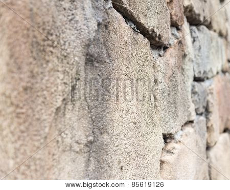 Rock Wall On Side View Background