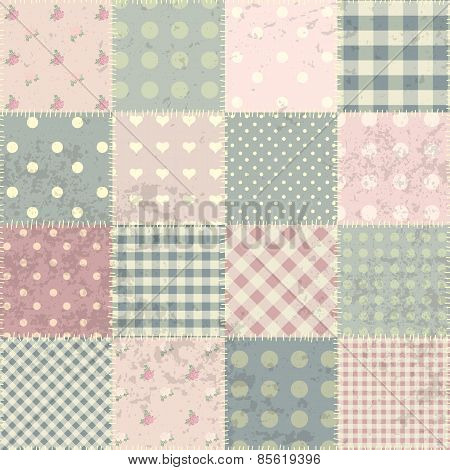 Patchwork in style Shabby chic