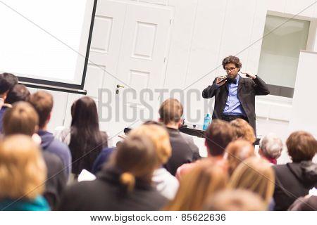 Speaker Talking at Business Conference.