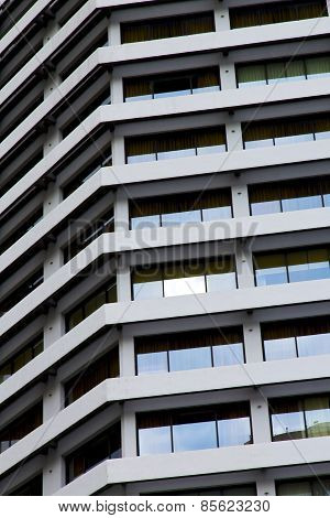 Reflex Of Some Gray Glass Of The Centre  Bangkok Thailand