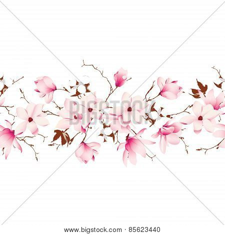 Garland Seamless Horizontal Vector Banner