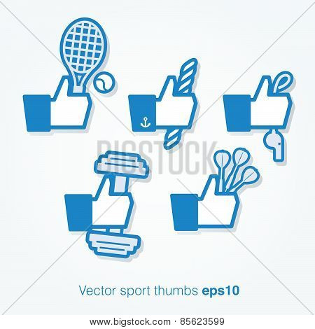 Vector sport thumbs up