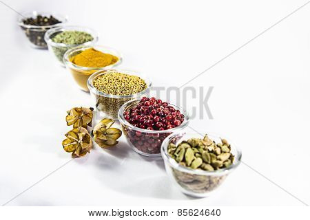 spices in a glass