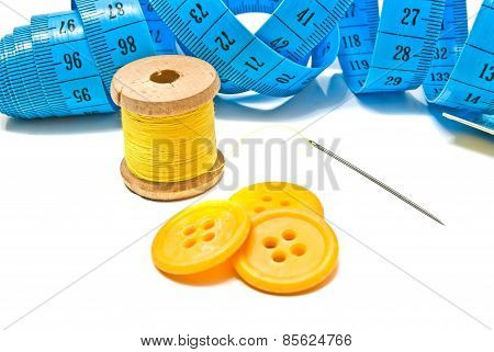 Blue Meter, Yellow Buttons And Thread