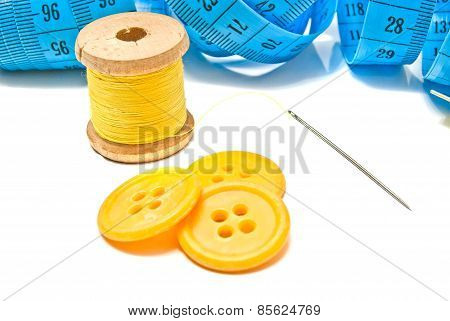 Blue Meter, Buttons And Thread