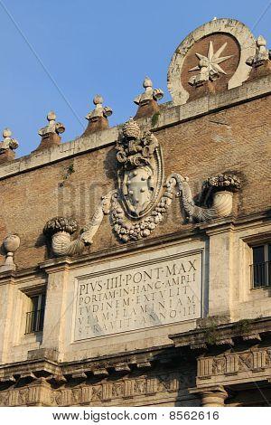 Porta del Popolo in Rome