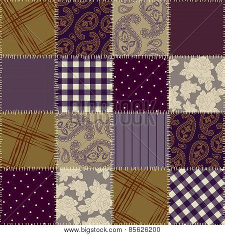 Violet patchwork