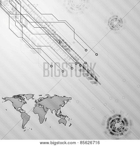 Hi-tech grey abstract background. Vector design