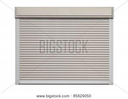 White door roller shutter