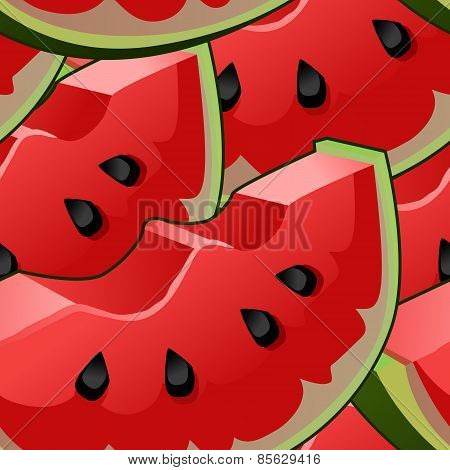 Seamless background with watermelon slices.