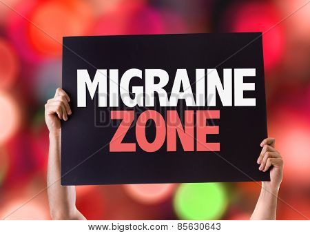 Migraine Zone card with bokeh background