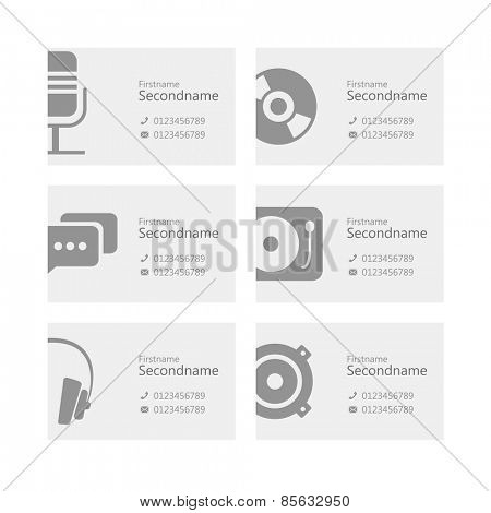 Personal id card collection. Design template