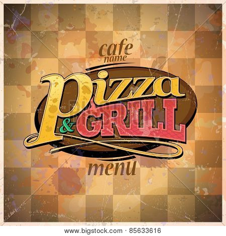 Pizza and grill menu. Eps10