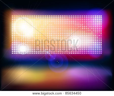 Big projection screen. Vector illustration.