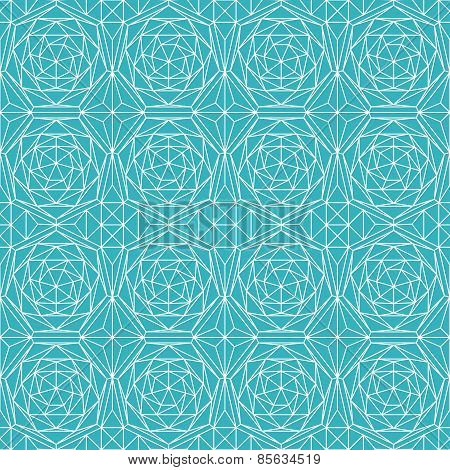 Blue Diamond Seamless Pattern