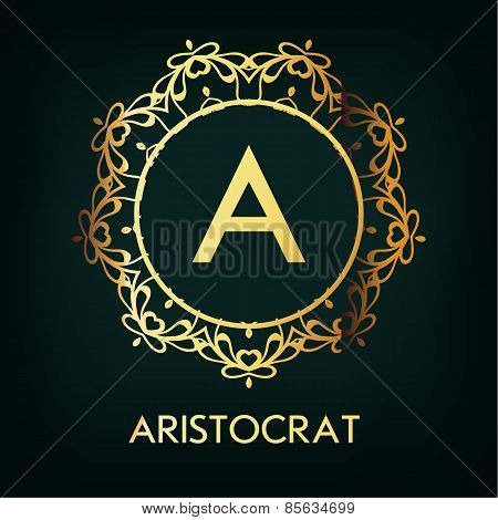 Vector Frame. Geometric Luxury Vintage Line Design Style for Hip