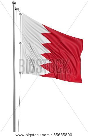 3D Flag of Bahrain (clipping path included)