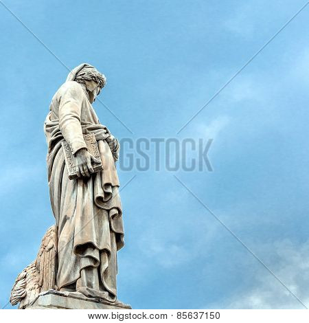 Dante's Statue In Florence, Italy
