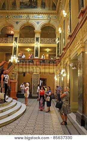 Interior Of Solomiya Krushelnytska State Academic Opera, Lviv