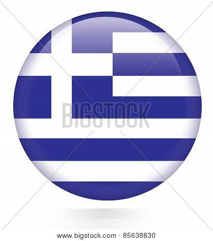 Greece flag button