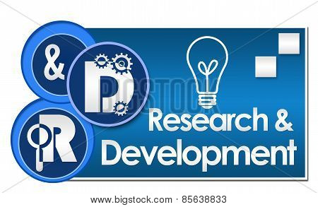 R And D - Research And Development Three Circles