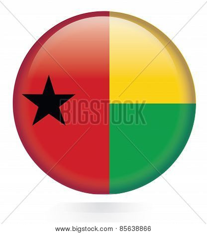 Guinea Bissau Flag button